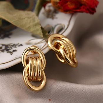 FNIO Fashion Vintage Earrings For Women Big Geometric Statement Gold Metal Drop Earrings 2020 Trendy Earings Jewelry Accessories 6