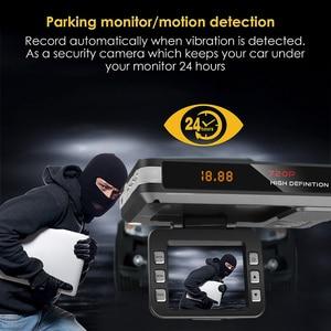 Image 5 - Auto Fahren Recorder Video Kamera DVR Anti Radar Detektor Fluss Erfassen Dash Cam 9V ~ 24V mit sauger auto ladegerät Unterstützung TF Karte