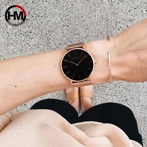 Image 4 - Frauen Uhren Mode Casual Japan Quarz Bewegung Wasserdichte Top Luxus Marke Edelstahl Mesh Armband Damen Armbanduhren