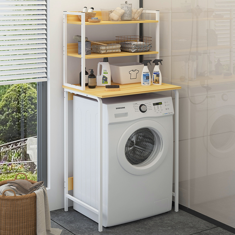 Floor Storage Shelf Toilet Roller Washing Machine Rack Bathroom Ma Tong Jia Toilet Storage Rack