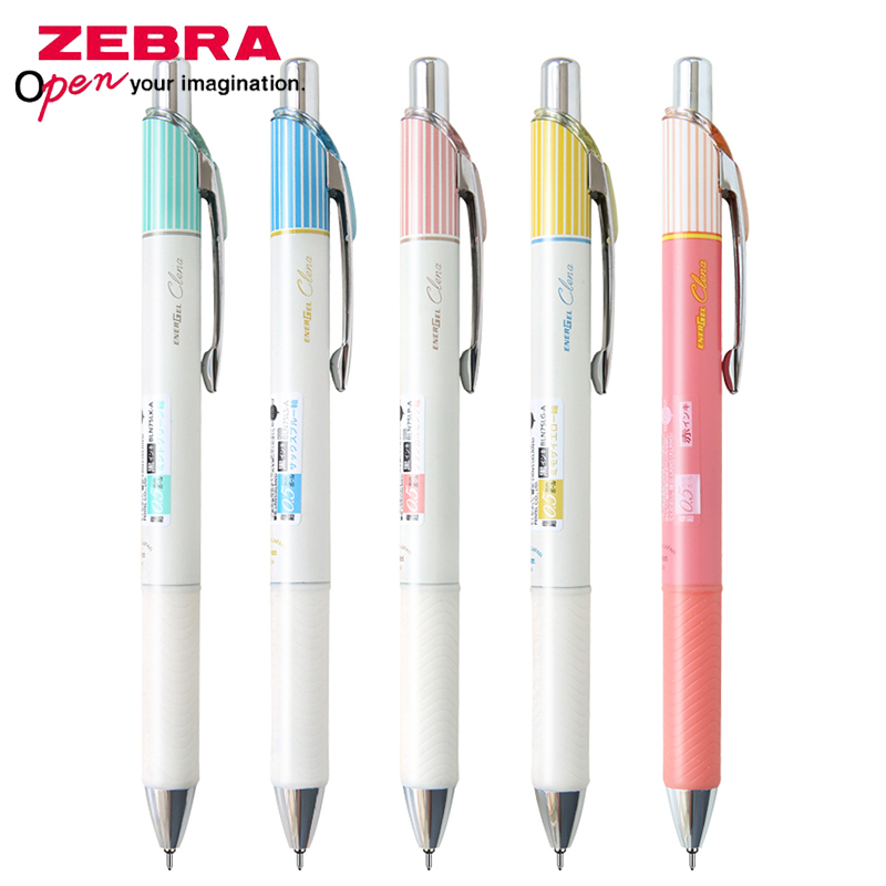1pcs Pentel ENERGEL Clena BLN75L Striped Quick-drying Gel Pen 0.5mm Stripe-themed Pens Quick-drying Inks Student Exam Stationery