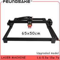 Contrôle TTL de la machine 6550 15w de laser PMW, CNC 7w laser découpant le Laser 5500 mw, machine de gravure de Laser de 1600 mw, zone de travail 65*50