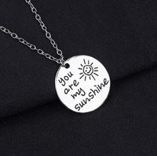 Trend Ronde Zon Ketting Letter