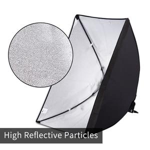 Image 3 - Photography Softbox Lighting Kit 2 PCS E27 LED Photo Studio Camera Light Box Equipment 2 Soft Box & Light Stand with Carry Bag