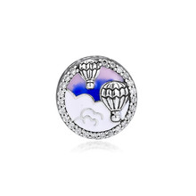 цена на Original 925 Sterling Silver Bead Hot Air Balloon Trip Charm Beads Fit Pandora Bracelet & Bangle for Women DIY Jewelry Kralen