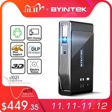بروجكتر محمول  LED DLP للمسرح المنزلي 300inch من طراز BYINTEK R15 Full HD 1080P Mini 3D 4K 5G ذكي مع واي فاي لأجهزة أندرويد