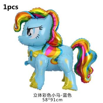 1PC 100*97CM Pink Horse Little Pony Unicorn Foil Balloons Helium Balloon Kids Toys Wedding Birthday Animal Party Decor Supplies 8