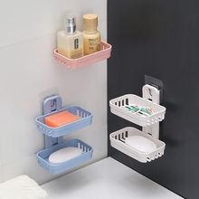 Не оставляющая следов двухслойные полые мыльница Ванная комната
