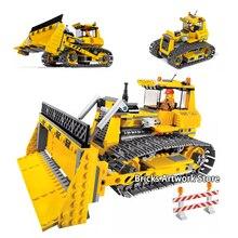 394Pcs Fit Technic Series 7685 Dozer Small Truck Set Mini Figures Model Building Blocks Educational Toys Bricks Christmas Gift