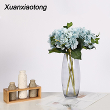 Get more info on the Xuanxiaotong 1pc Hydrangea Silk Artificial Flower Branches with Green Leaves for Fall Wedding party Home Decoration High Quality