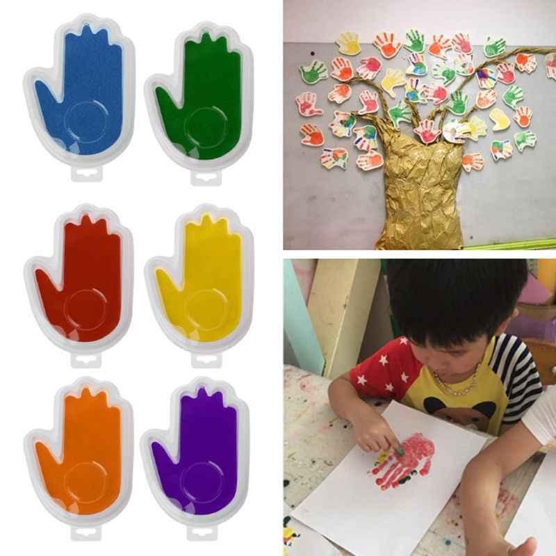 เด็กปลอดภัยพิมพ์หมึก Pad Inkless Footprint ชุด Handprint Keepsake Maker ความทรงจำของที่ระลึกของขวัญทารกแรกเกิดรอยเท้ามือผู้ผลิต