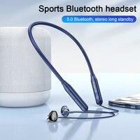 HOCO-auriculares inalámbricos con Bluetooth, dispositivo deportivo magnético para correr, resistente al agua, con reducción de ruido, 60 horas