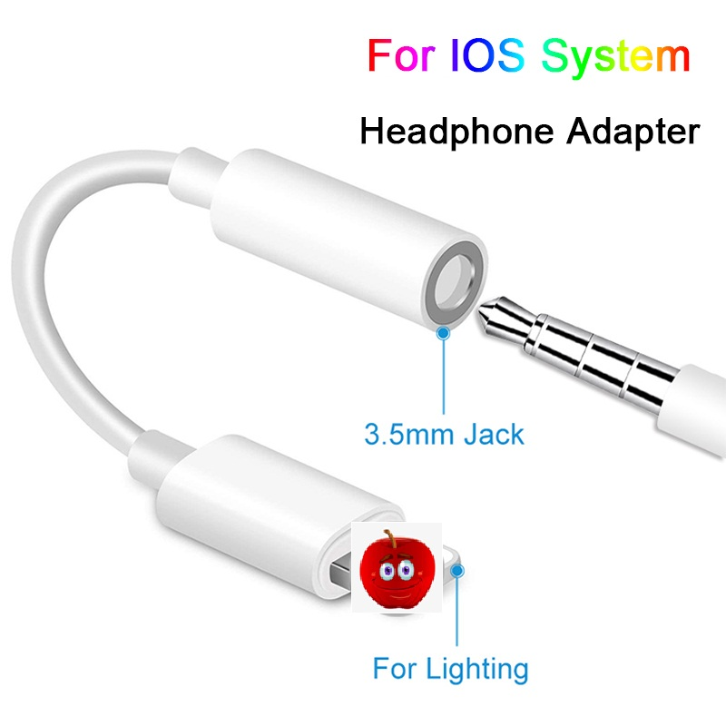 Headphone  Cable IOS 10 11 12 Headphone Adapter For IPhone 7 8 X Female To 3.5mm Male Adapters AUX Adapter For IPhone