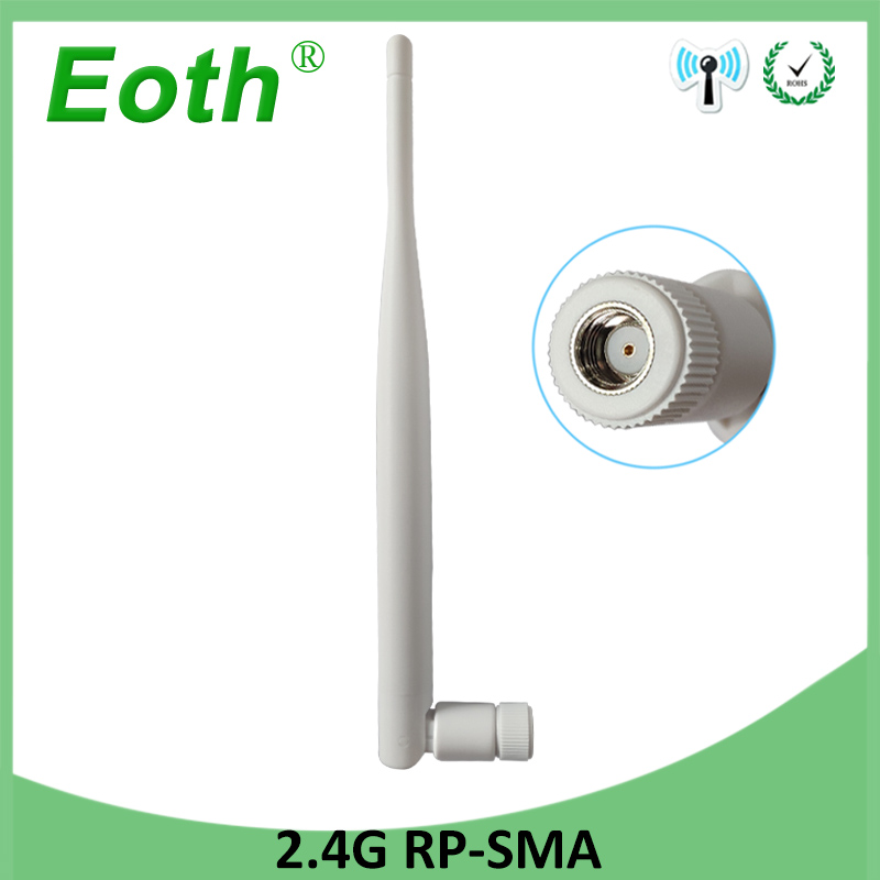 2.4 GHz WiFi Antenna 5dBi Aerial RP-SMA Male Connector 2.4ghz Antena 2.4G Wi Fi Antenne For Wireless Router Wifi Booster