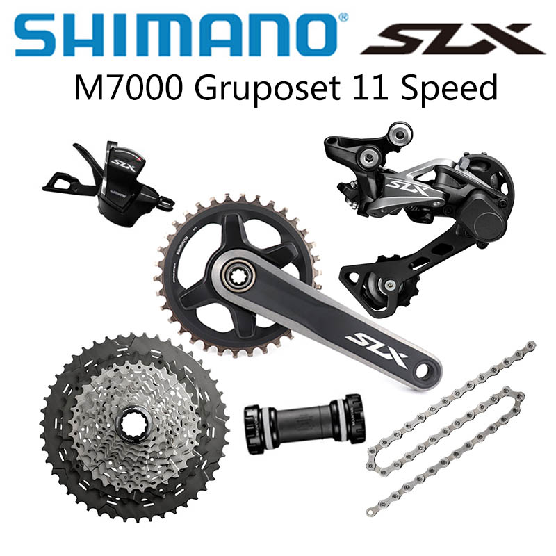 <font><b>SHIMANO</b></font> <font><b>SLX</b></font> <font><b>M7000</b></font> <font><b>1x11</b></font> Speed <font><b>Groupset</b></font> 32T 34T Crankset Mountain Bike <font><b>Groupset</b></font> 42T 46T <font><b>M7000</b></font> Rear Derailleur Shift Lever image