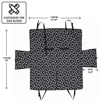 CAWAYI KENNEL Dog Carriers Waterproof Rear Back Pet Dog Car Seat Cover Mats Hammock Protector with Safety Belt Transportin Perro 6