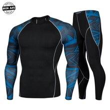 ברזל JIAS גברים של תחתונים תרמיים סט אופנוע בסיס שכבה חורף חם הדוק ארוך חולצות & חולצות תחתון חליפה