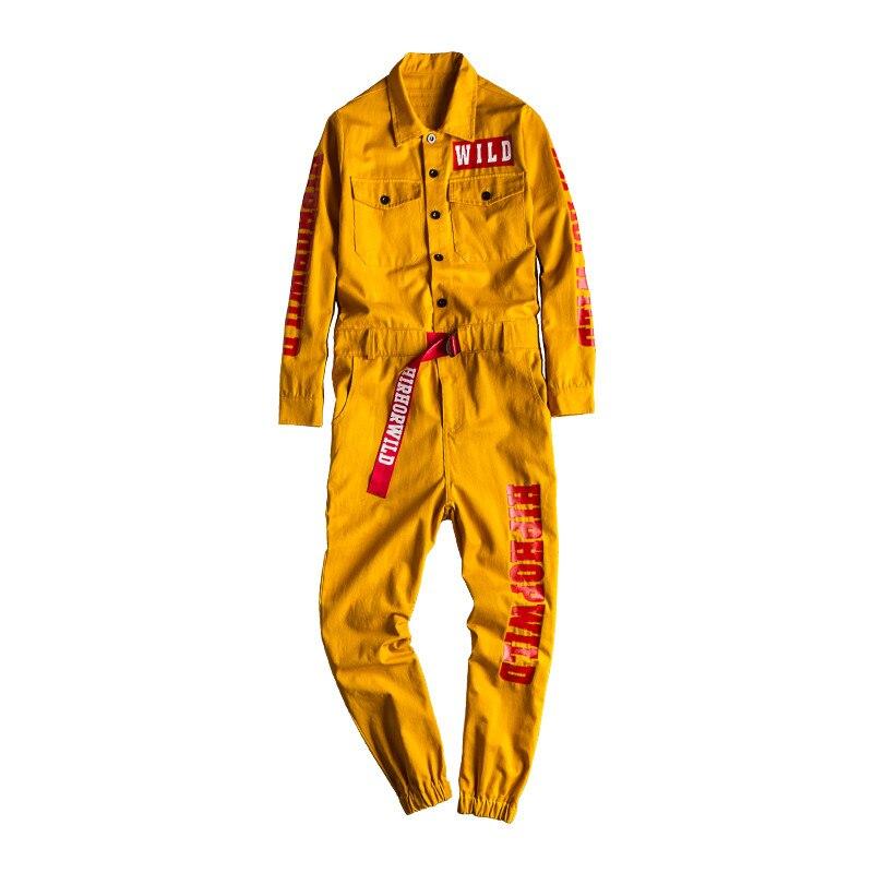 MORUANCLE Men Fashion Hip Hop Denim Bib Overalls Printed Jeans Jumpsuits Hi Street Suspender Pants For Male Letter Painted S-XXL