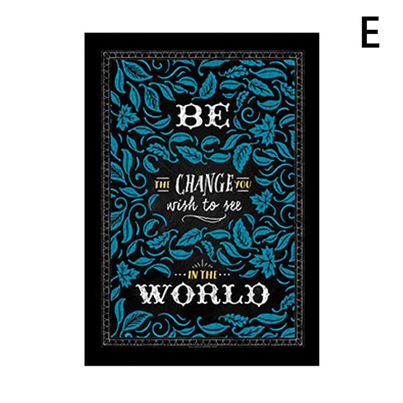 Вдохновляющий постер на английском языке, картина, мотивационный плакат, школьная офисная классная комната, для стен, картины для школьников, школьниц - Цвет: E