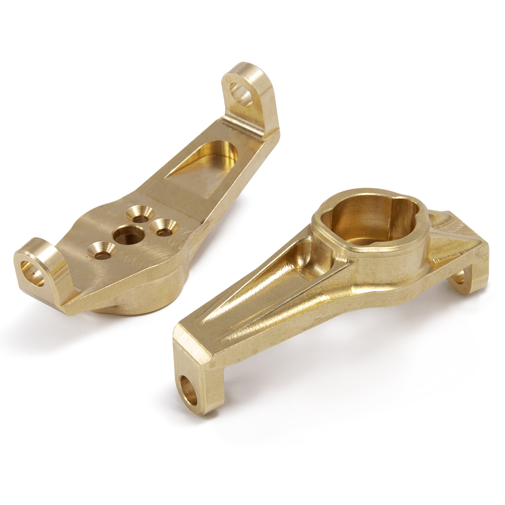 Image 5 - YEAHRUN 1Pair Heavy Duty Brass Front Hub Carrier for Traxxas TRX4 1/10 RC Crawler CounterweightsParts & Accessories   -