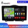 Podofo 2Din araba radyo Android 9.1 LADA için araba multimedya oynatıcı 2 DIN autoradio için LADA GRANTA 2018 2019 araba Stereo
