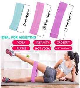 Image 4 - Booty Builder Hip Resistance Bands Set Fabric Non Slip for Fitness Yoga Pilates Legs and Butt Glute Workout Stretching Training