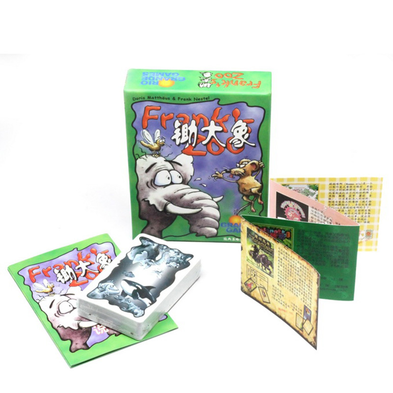 New 3-7 Players Frank Zoo Cards Game Board Game Funny Transactions Metting Game Chinese Version Send Free English Instructions