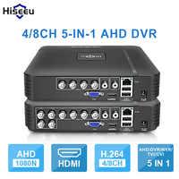 AHD 1080N 4CH 8CH CCTV DVR Mini DVR 5IN1 para CCTV Kit VGA HDMI sistema de seguridad Mini NVR para 1080P cámara IP ONVIF, DVR PTZ H.264