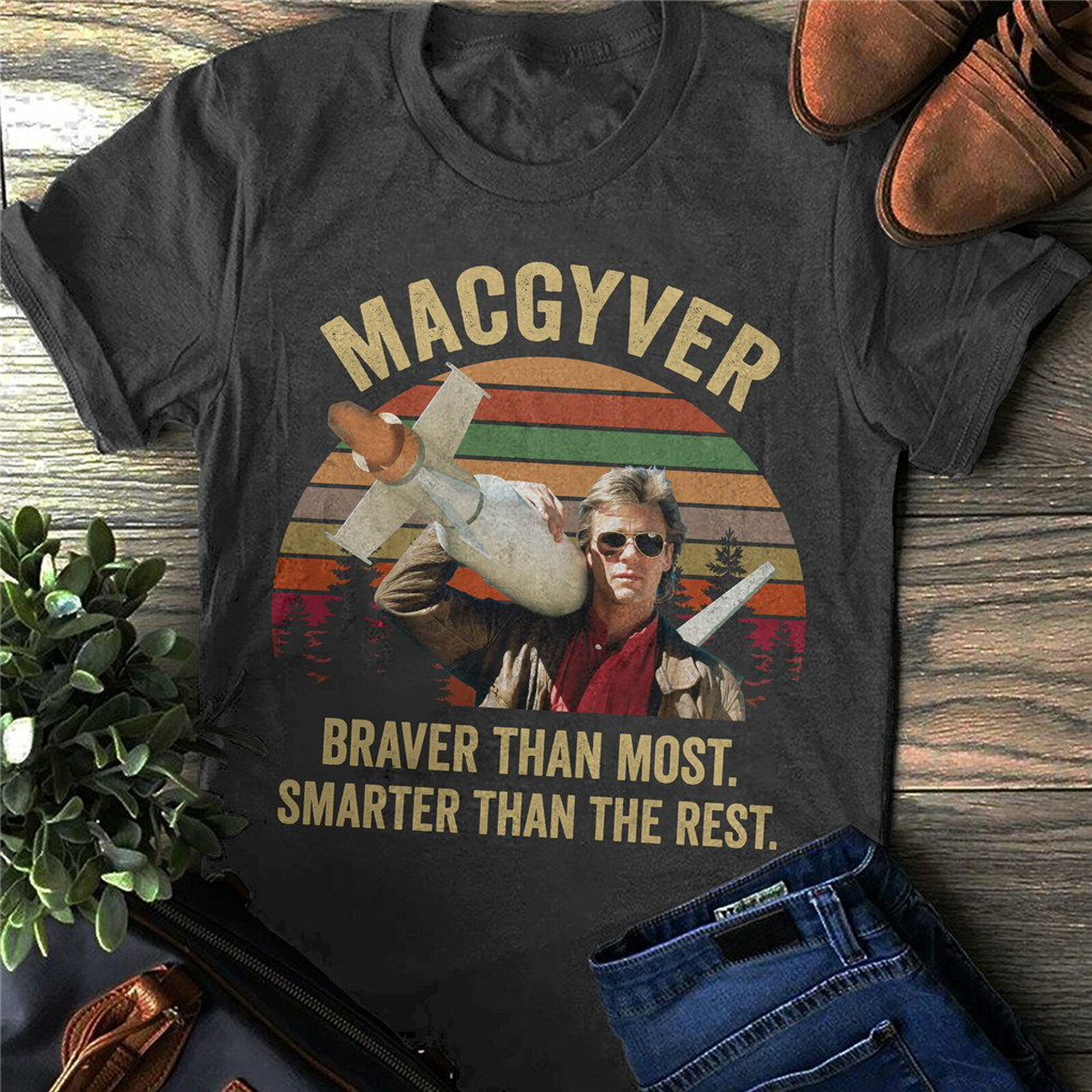 MacGyver Classic Movie MacGyver Tv Show Richard Dean Anders New Unisex Funny Tee Shirt