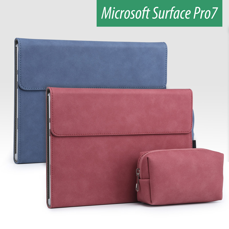 2019 New Laptop Tablet Cover Sleeve for Microsoft Surface Pro 7 Stand Holder Surface Pro 6 5 4 Case Women Men Solid Laptop Bag