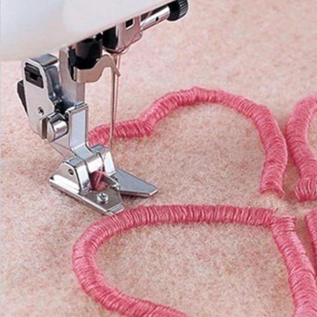 Швейная машина прижимная лапка Серебряная свернутая кромка для завивки лапка для швейной машины Швейные аксессуары 3D кисточка/циркуляционная|Швейные инструменты и аксессуары|   | АлиЭкспресс