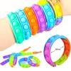 Fidget Toys Sensory Bracelet Push Bubble Simple Dimple Wristband Decompression Anti Stress Reliever Fidget Toy Popite Adult Kids