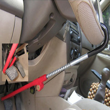 Universal Car Folding Steering Wheel Lock Red Stainless Steel Alloy Parking Safety Styling Accessories