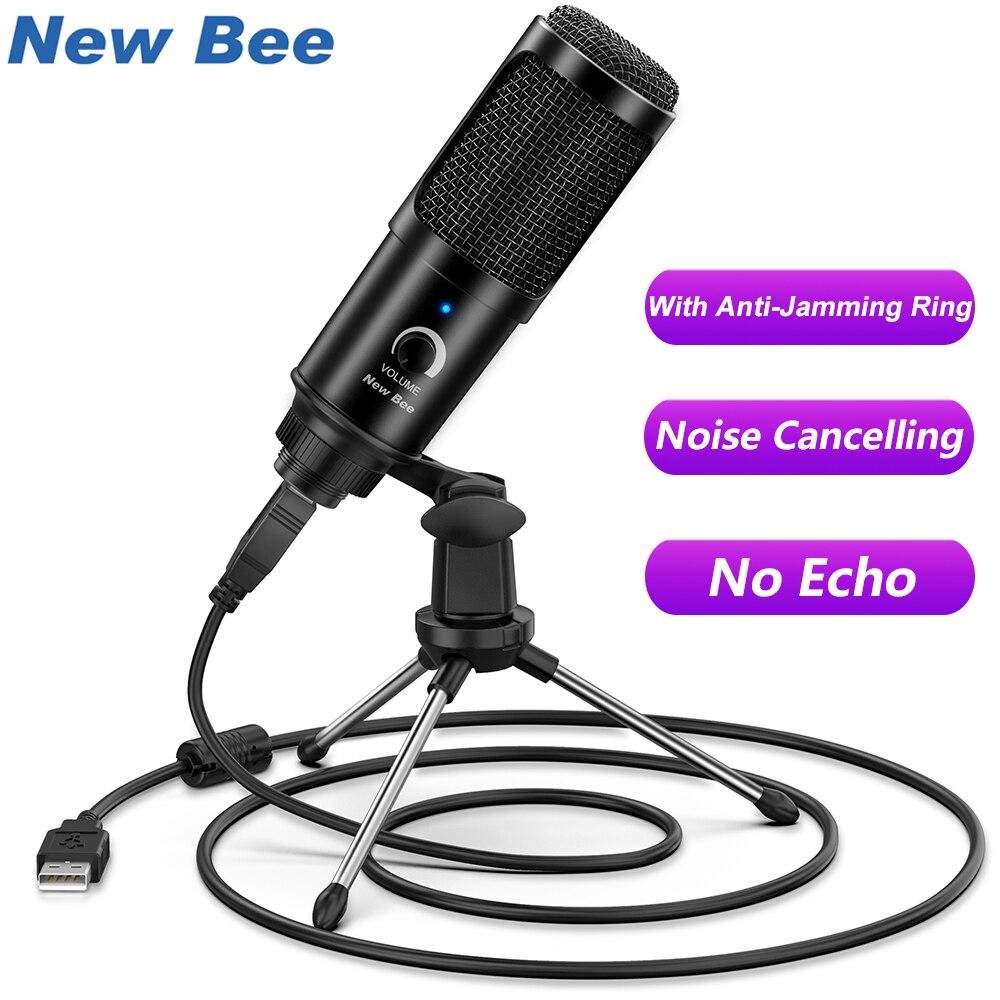 USB микрофон конденсаторный домашний микрофон Настольный Штатив для ПК YouTube видео Skype Чат игровая Подкаст запись