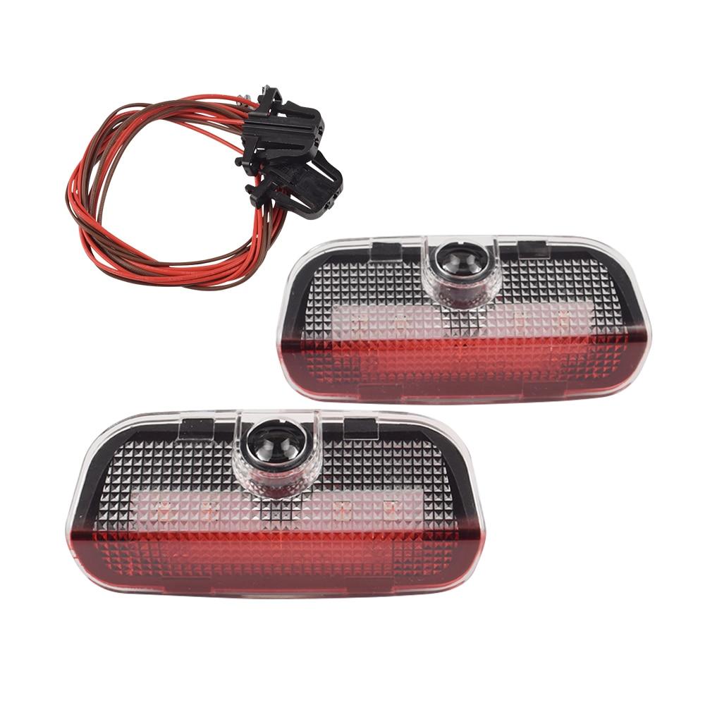 2 шт. светодиодный двери автомобиля лампы освещения для VW T-ROC Passat CC Golf Touran Tiguan Scirocco Sharan Tiguan Touareg R Rline Логотип Светильник проектор