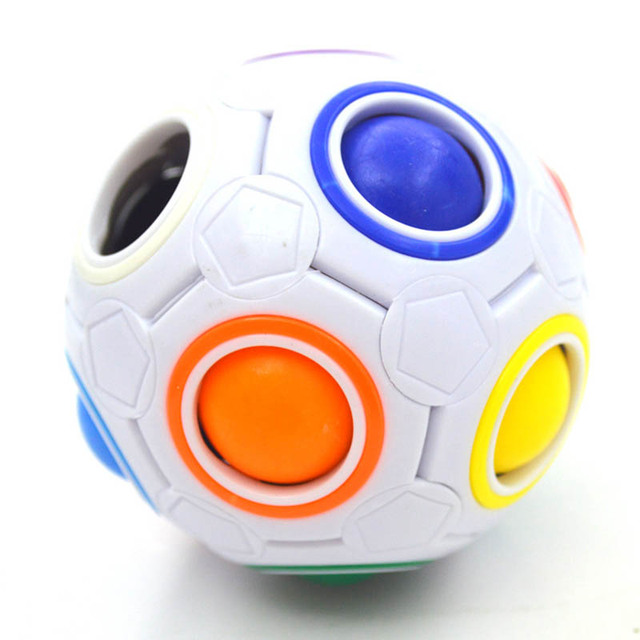 Creative Funny Antistress Figet Toy Adult Stress Reliever Rainbow 3D Magic Ball Football Cube Puzzle Kids Color Educational Toys 2