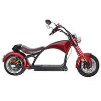 Motocicleta eléctrica de 2000W 50km Estilo Retro Vintage vehículo eléctrico adultos Scooter 60V 20AH grasa neumático de la motocicleta