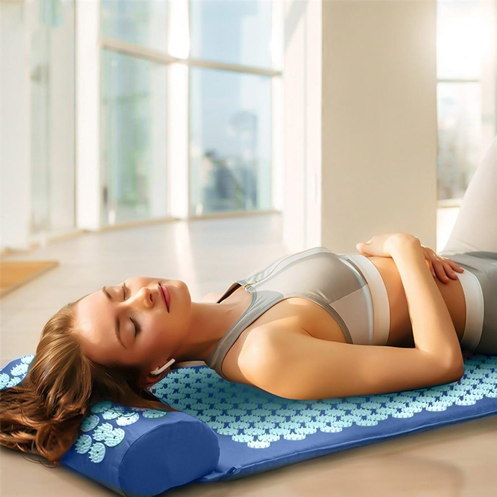 Acupressure Massage Mat including Pillow Sets to Relieve Stress and Back Pain with Spike 5