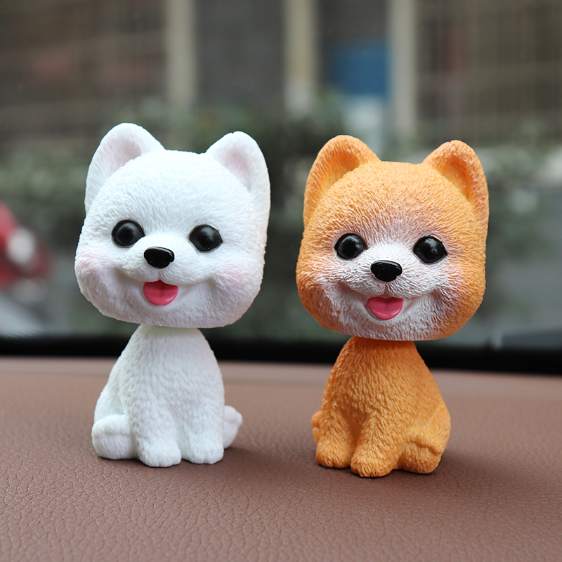 Car ornaments bobblehead dog nodding puppy toys car dashboard decor toy lovely wobble shaking head dolls auto interior accessory