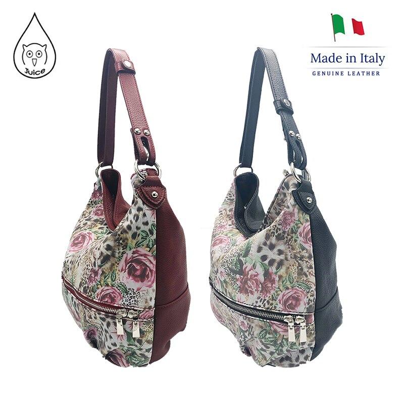 JUICE ,made In Italy, Genuine Leather, Women Bag, Handbag/Shoulder Bags,adjustable Shoulder Strap 112214