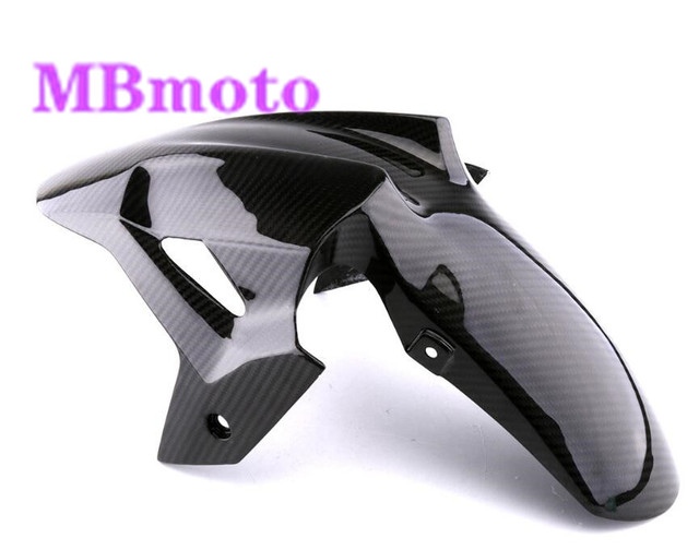 Motocicleta abs injetion frente pneu de carbono fender carenagem parte apto ninja 400 2018 2019 ex400 frente fender motocicleta