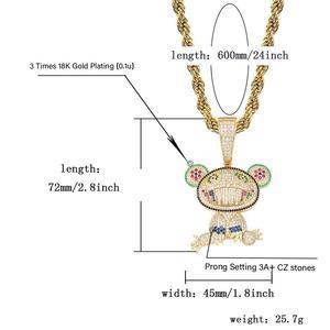 Image 5 - JINAO جديد الطفل الدب الحيوان قلادة و قلادة مع تنس سلسلة مثلج خارج مكعب الزركون مشرقة الرجال الهيب هوب مجوهرات هدية