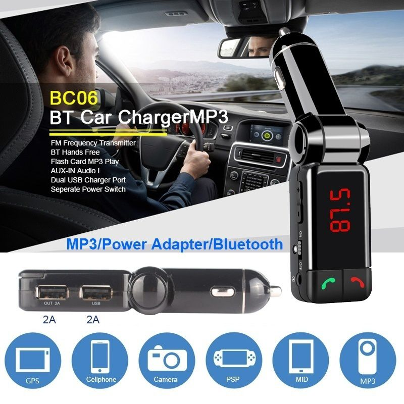 11 digitale Bluetooth Dual USB Auto Auto FM Transmitter <font><b>MP3</b></font> <font><b>Player</b></font> Drahtlose Auto Hände Frei Aufruf <font><b>MP3</b></font> <font><b>Player</b></font> Unterstützung TF karte image