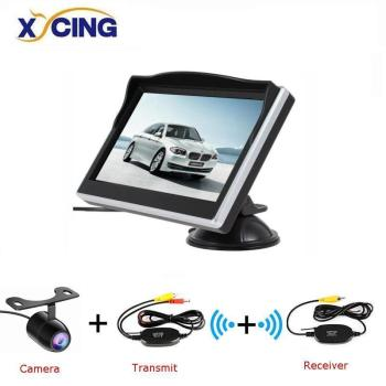 XYCING 5 Inch Car Monitor TFT LCD 5 HD Digital 16:9 800*480 Screen 2 Way Video Input For Reverse Rear View Camera DVD VCD image