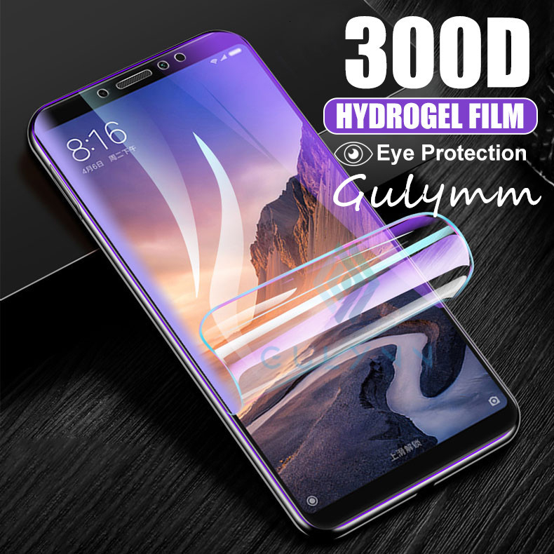 New <font><b>300D</b></font> Full Cover Soft Hydrogel Film For Xiaomi Redmi 8A 8 7 6Pro Play Note 5 6 7 8 Pro Screen Protector For Mi A3 Lite Film image