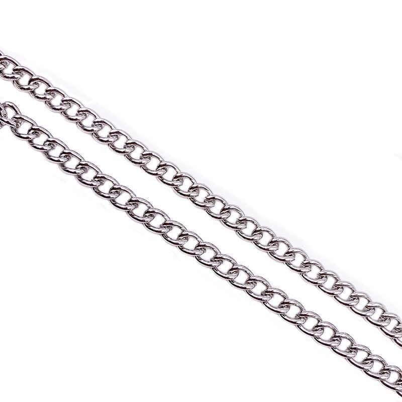11.8/17.7ins โลหะยาวกระเป๋าสตางค์เข็มขัดกางเกง Hipster กางเกงโซ่ Jean Key CHAIN แหวนเงินคลิป Key แหวนผู้หญิงพวงกุญแจ Trinket