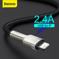 Baseus USB Cable for iPhone 11 12 Pro Max Xs Xr X 2.4A Fast Charging Cable for iPhone Cable 7 SE 8 Plus Charger for iPad air