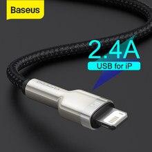 Baseus USB kablosu iPhone 11 12 Pro Max Xs Xr X 2.4A hızlı şarj kablosu iPhone kablosu 7 SE 8 artı şarj için iPad hava