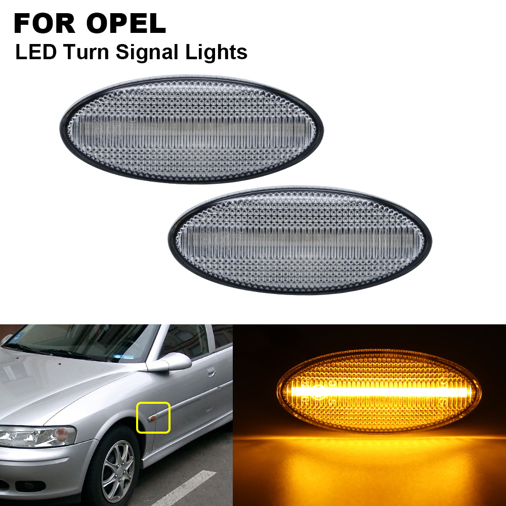 2PCS LED Side Marker Signal Light Indicator Lamp For <font><b>Opel</b></font> Vauxhall <font><b>Vectra</b></font> <font><b>B</b></font> 1995 1996 1997 1998 1999 <font><b>2000</b></font> 2001 2002 2003 image