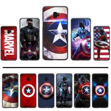 Captain America Marvel Cover Hitam Lembut Shell Ponsel Case untuk Samsung S6 S7 Edge S8 S9 S10 E Plus A10 a50 A70 Note8 J7 2017(China)